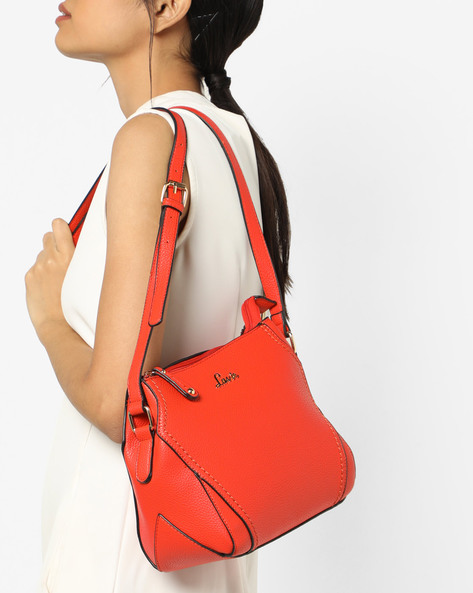 Textured Sling Bag By Lavie ( Orange )
