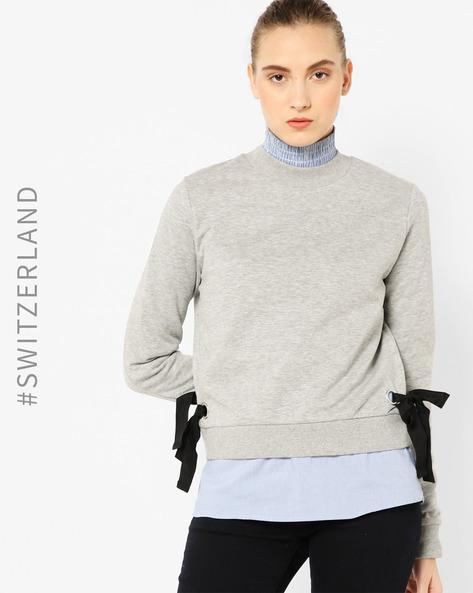 Sweatshirt With Side Tie-Up By TALLY WEiJL ( Grey )