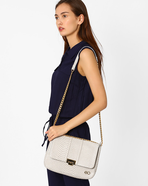 Textured Sling Bag By E2O ( Grey )