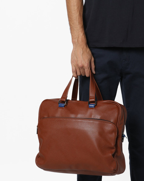 Laptop Messenger Bag By UNITED COLORS OF BENETTON ( Brown )