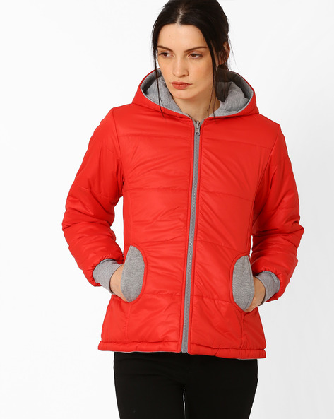 Hooded Reversible Jacket By TEAM SPIRIT ( Red )