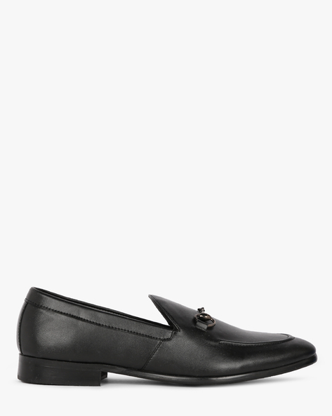 Slip-On N9-Treated Formal Shoes By AJIO ( Black )