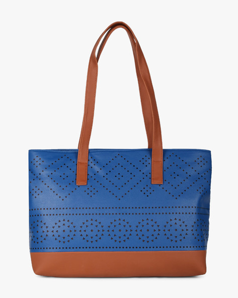Tote Bag With Laser Cut-Outs By Toteteca ( Blue )