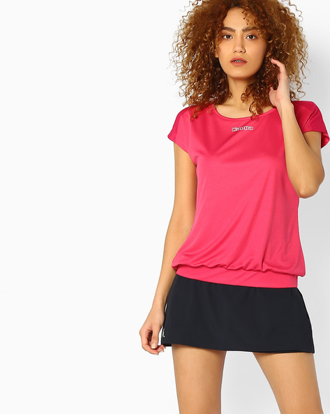 Blouson Top With Cap Sleeves By KAPPA ( Pink )