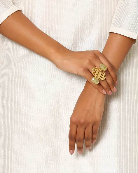 Gold-Plated Statement Ring By Indie Picks ( Gold )