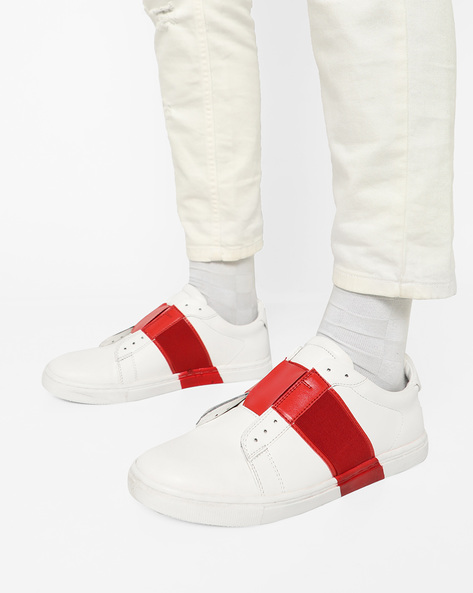 Slip-On Sneakers With Contrast Overlay By Funk ( White )