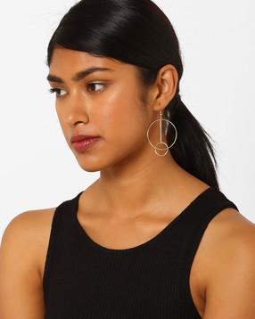 Geometric-Shaped-Drop-Earrings