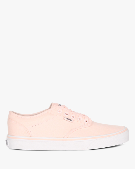 Lace-Up Canvas Shoes By Vans ( Pink )