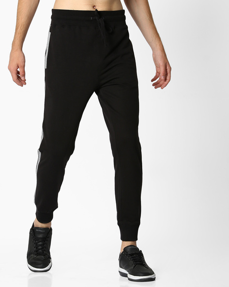 Joggers With Contrast Side Panels By DEEZENO ( Black )