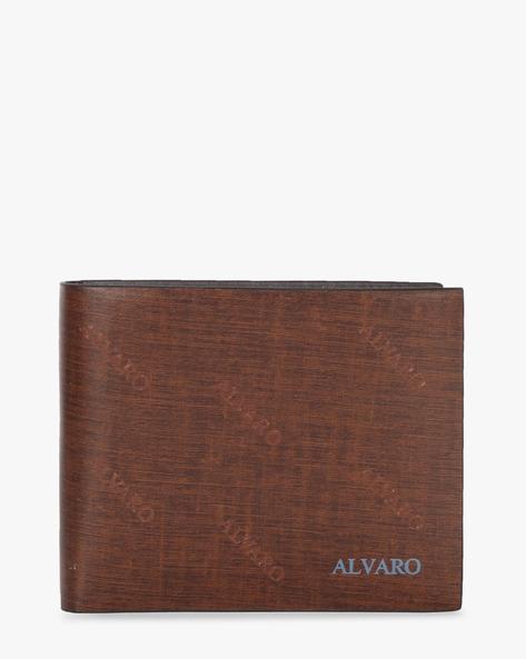 Genuine Leather Textured Bi-Fold Wallet By ALVARO CASTAGNINO ( Brown ) - 460135678001