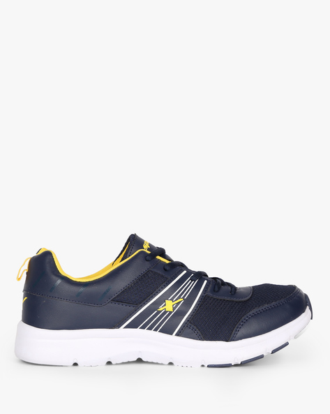 Panelled Lace-Up Sports Shoes By SPARX ( Darkblue )