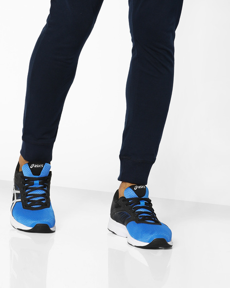 Fuzor Sports Shoes With Lace-Up Fastening By ASICS ( Blublkwht )