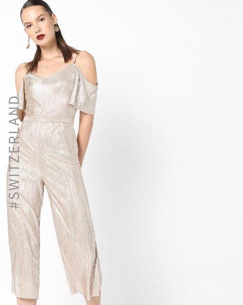 Cold-Shoulder Jumpsuit With Belt By TALLY WEiJL ( Pink )