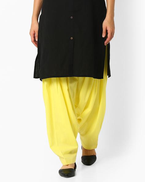 Cotton Patiala Pants By Stylenmart ( Yellow ) - 460033266001