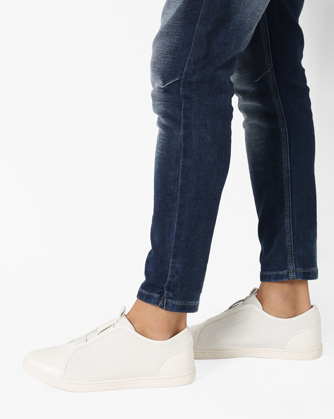 Slip-On Sneakers With Gussets By AJIO ( White )