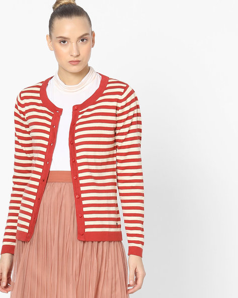 Striped Cardigan With Round Neck By WRANGLER ( Multi )