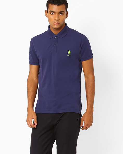 Regular Fit Polo T-shirt By US POLO ( Blue )