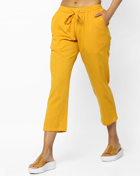 Pants With Drawstring Waist By PE IW Casual ( Yellow )