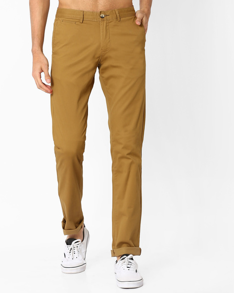 Tapered Fit Chinos By BASICS ( Khaki )
