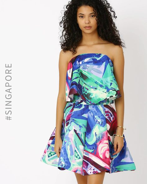 Printed Tube Top By MDS ( Multi )