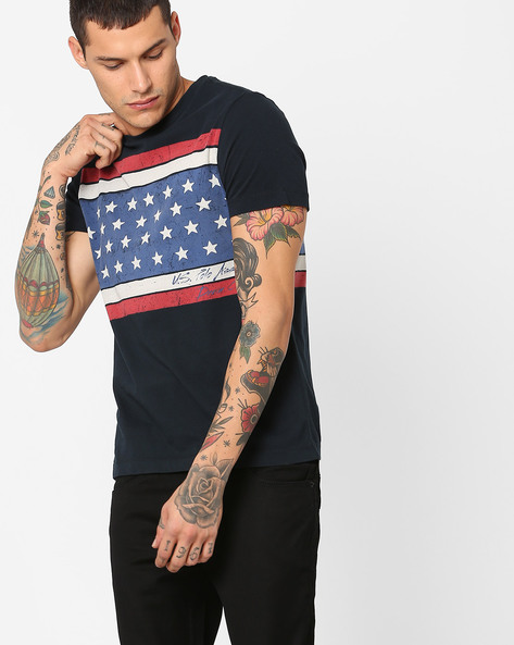 Graphic Print Crew-Neck T-shirt By US POLO ( Assorted )