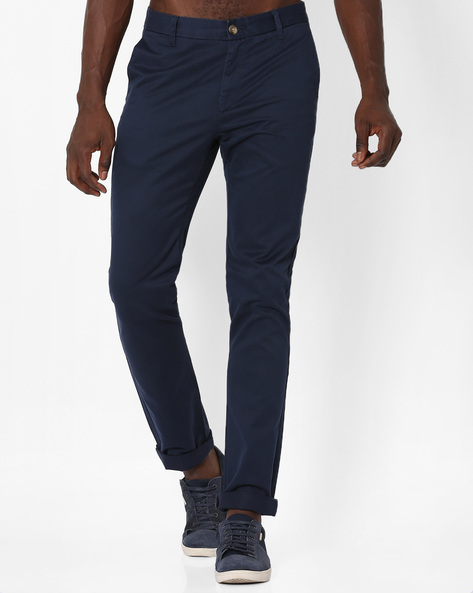 Slim Fit Cotton Trousers By US POLO ( Navy )
