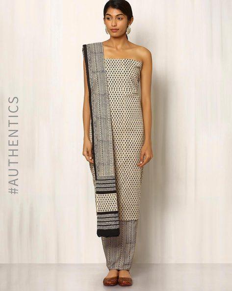 Bagru Print Cotton Dress Material By Indie Picks ( Multi ) - 460016877001