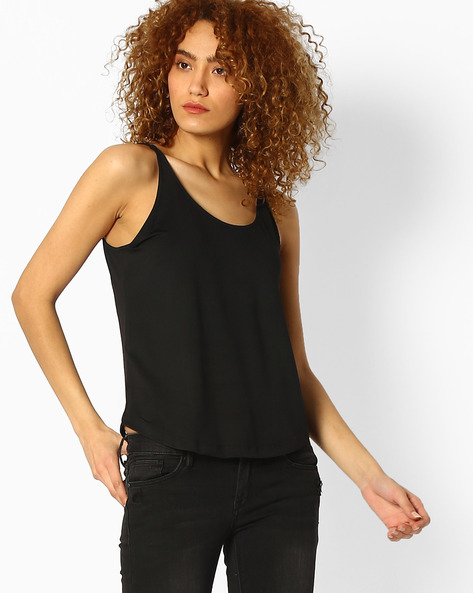 Relaxed Fit Tank Top By Ginger By Lifestyle ( Black )