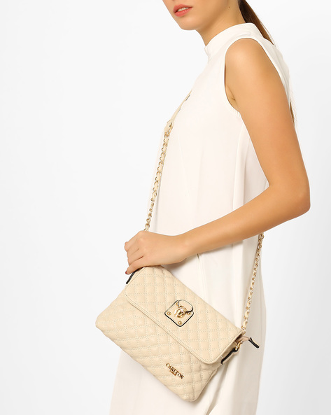 Textured Sling Bag By Carlton London ( Beige )