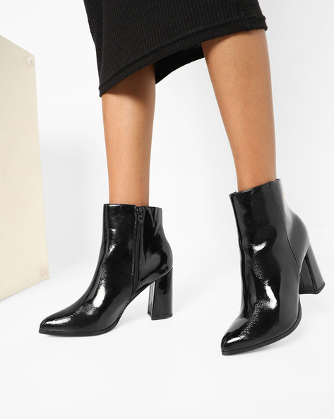 Ankle Boots With Zipper By Truffle Collection ( Black )