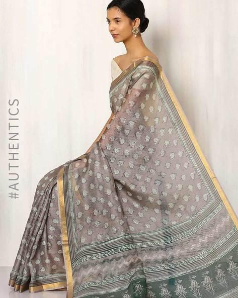 Bagru Print Kota Pure Silk Saree By Indie Picks ( Multi )