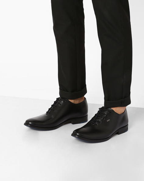 Genuine Leather Oxford Shoes By Lee Cooper ( Black )