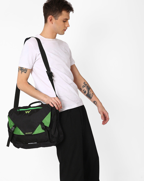 Water-Resistant Zavan Messenger Bag By Wildcraft ( Green )
