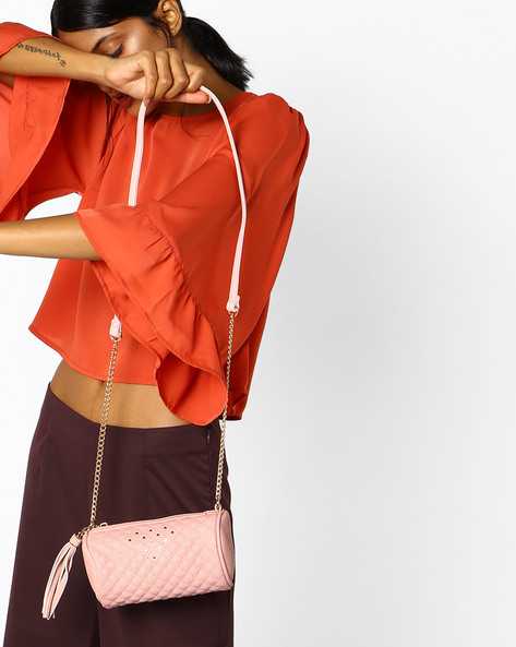 Cadie Textured Sling Bag By CAPRESE ( Pink )