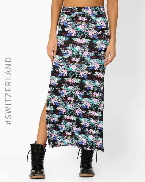 Maxi Skirt With Side Slits By TALLY WEiJL ( Multi )
