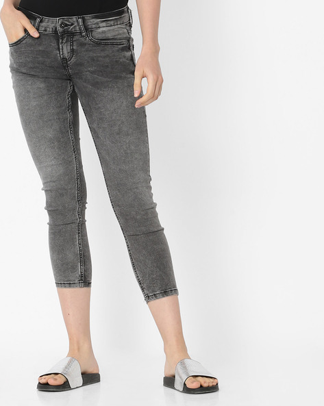 Light-Wash Skinny Cropped Jeans By Pepe Jeans ( Black )