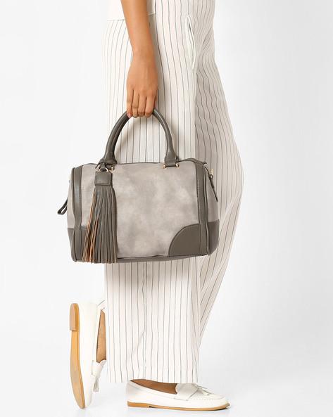 Handbag With Tassels By AJIO ( Tan )