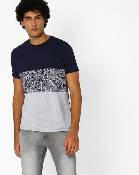 Colourblock Printed T-shirt By Garcon ( Assorted )