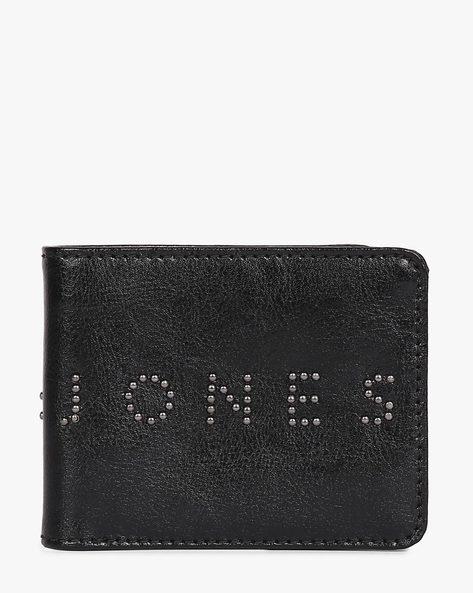 Textured Genuine Leather Wallet By Jack & Jones ( Black )