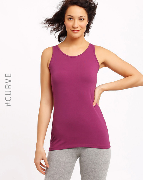 Tank Top By AJIO ( Pink )