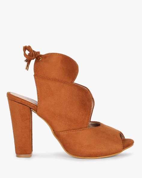 Tie-Up Heeled Sandal By MFT Couture ( Tan )