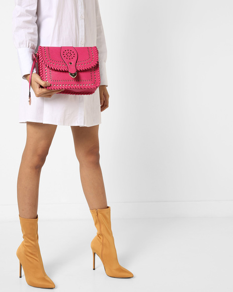 Sling Bag With Cut-Out Detail By Diana Korr ( Pink )