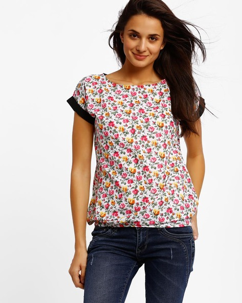 Floral Print Top By Style Quotient By Noi ( Multi )