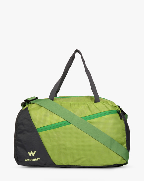 Tinker Water-Resistant Panelled Duffel Bag By Wildcraft ( Green )