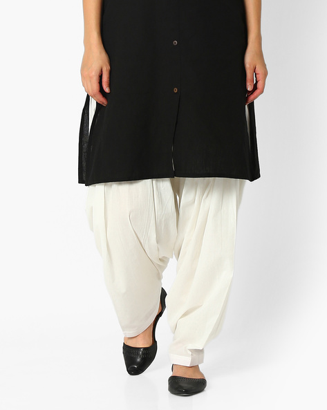 Cotton Patiala Pants By Stylenmart ( Offwhite )