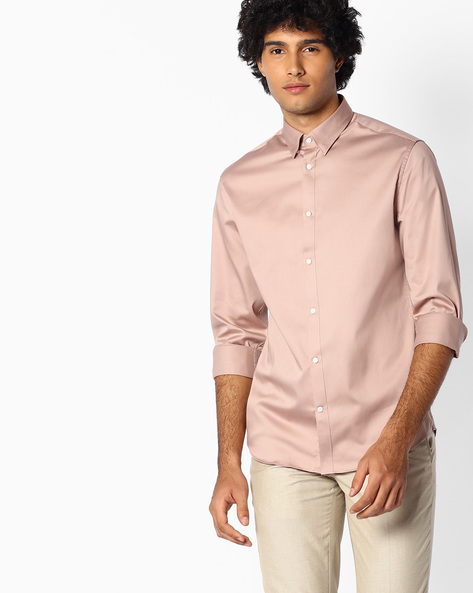 Regular Fit Cotton Shirt By SELECTED ( Assorted )