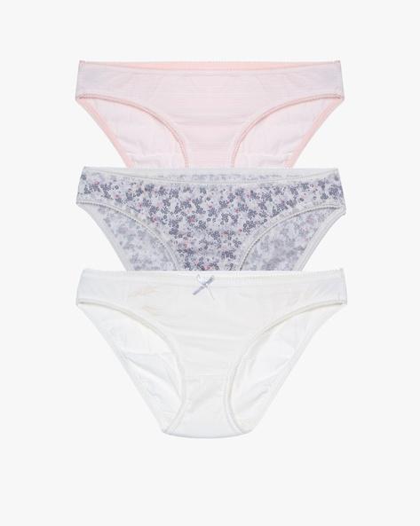 Pack Of 3 Bikini Panties By Marks & Spencer ( Peach )