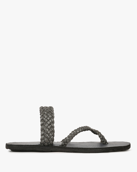 Braided Multi-Strap Slippers By HUNTERS BAY ( Grey )