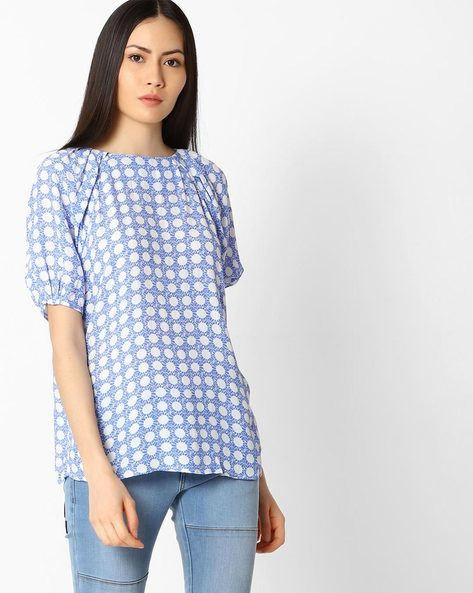 Polka-Dot Print Top By Vero Moda ( White )