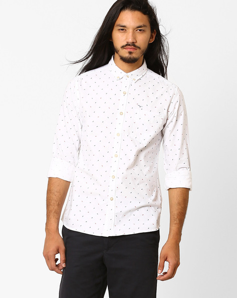 Casual Slim Fit Cotton Shirt By FLYING MACHINE ( Assorted )
